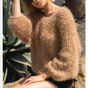 POL Camel Knit Sweater Size S